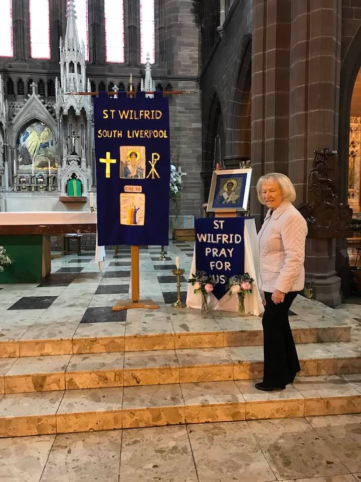 Kathy Green's banner in St Wilfred's Church