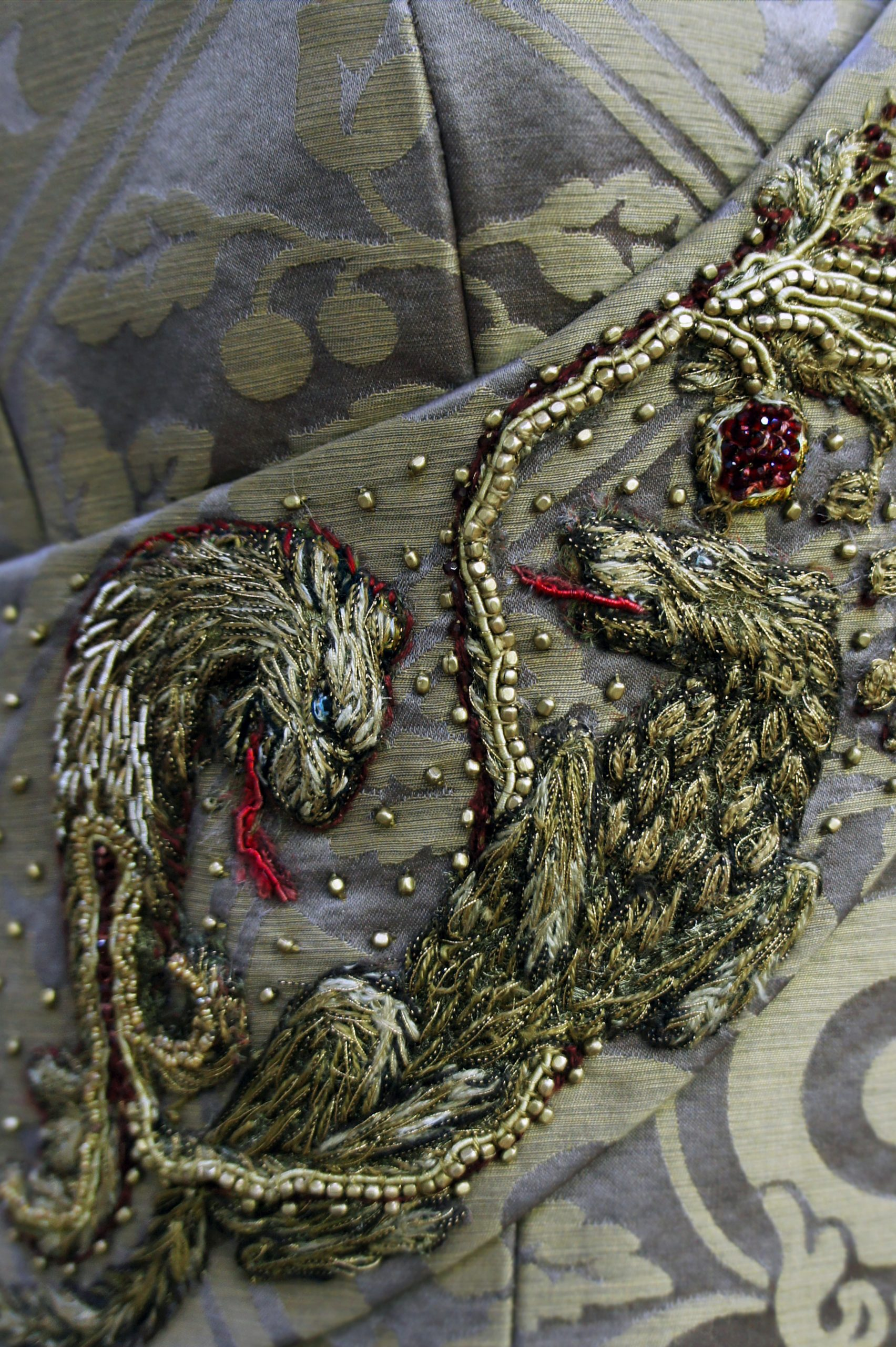 SANSA'S WEDDING DRESS EMBROIDERY (close up) by MICHELE CARRAGHER